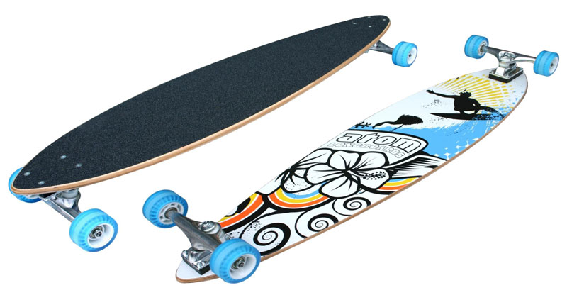 Atom Pin Tail Longboard 39