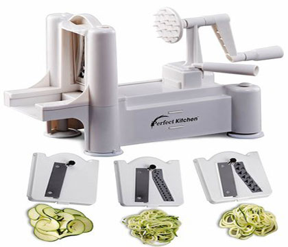 iperfect kitchen tri blade vegetable spiralizer