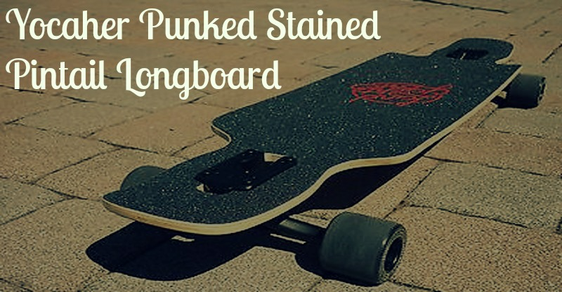 yocaher punked stained longboard