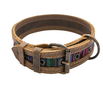 Hide & Drink Rustic Mayan Dog Collar